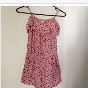 H & M Girls Romper Sz 10-11Y, color Pink/black